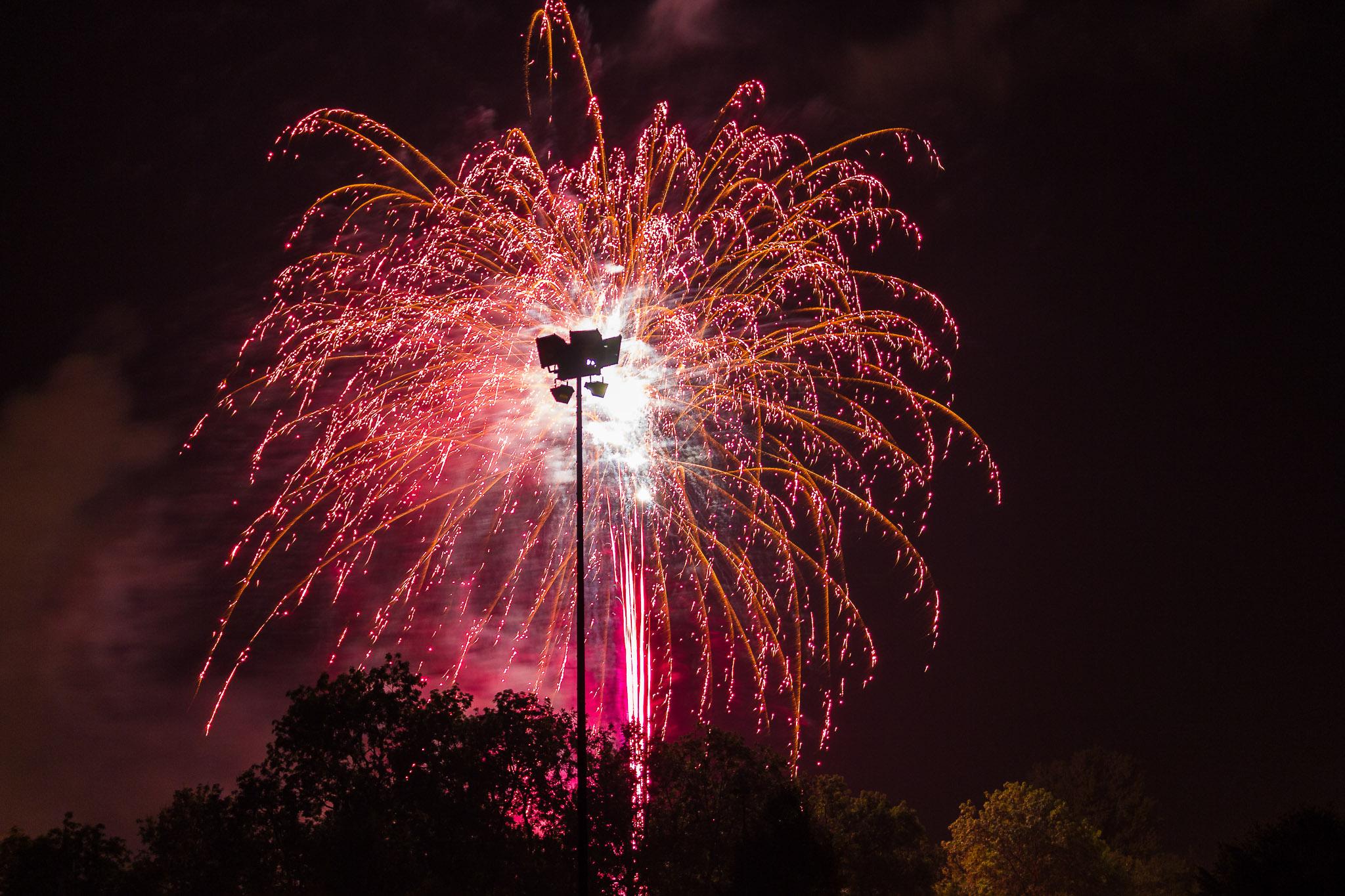 Feuerwerk Wangen