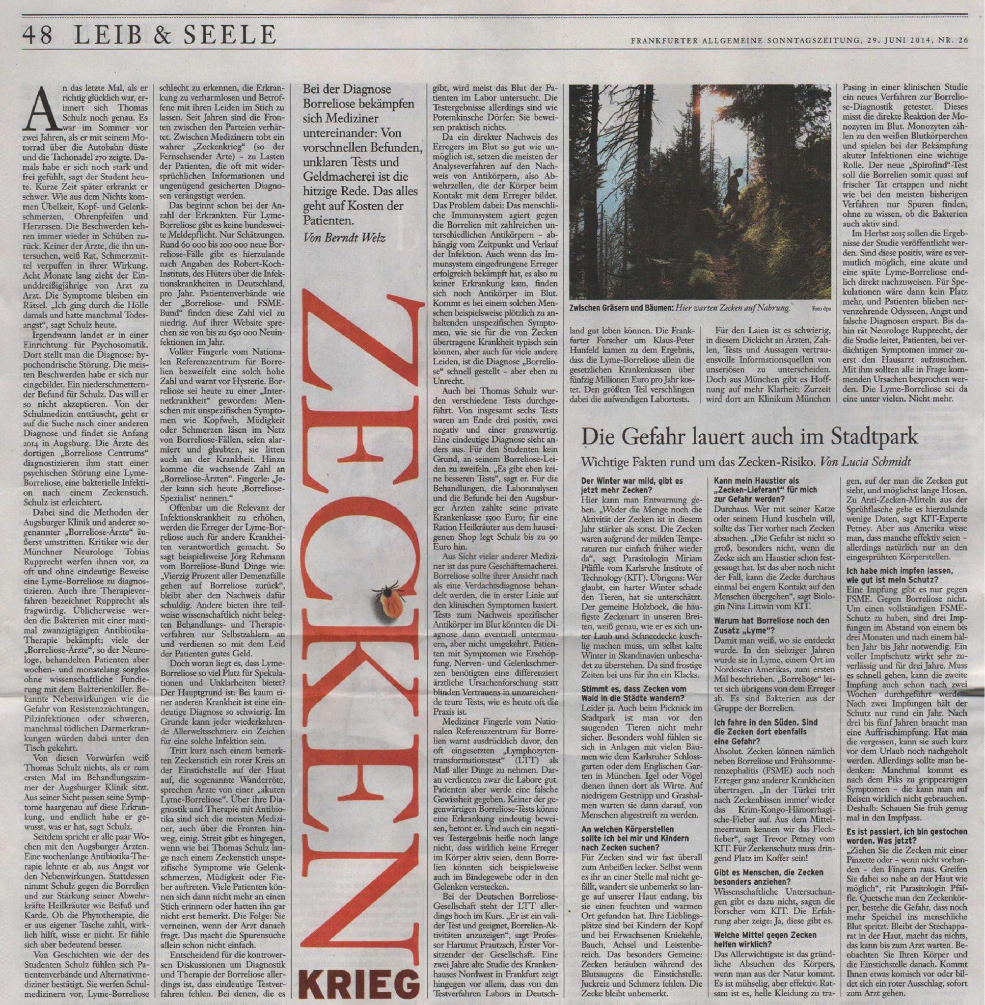 FAZ - Zeckenkrieg