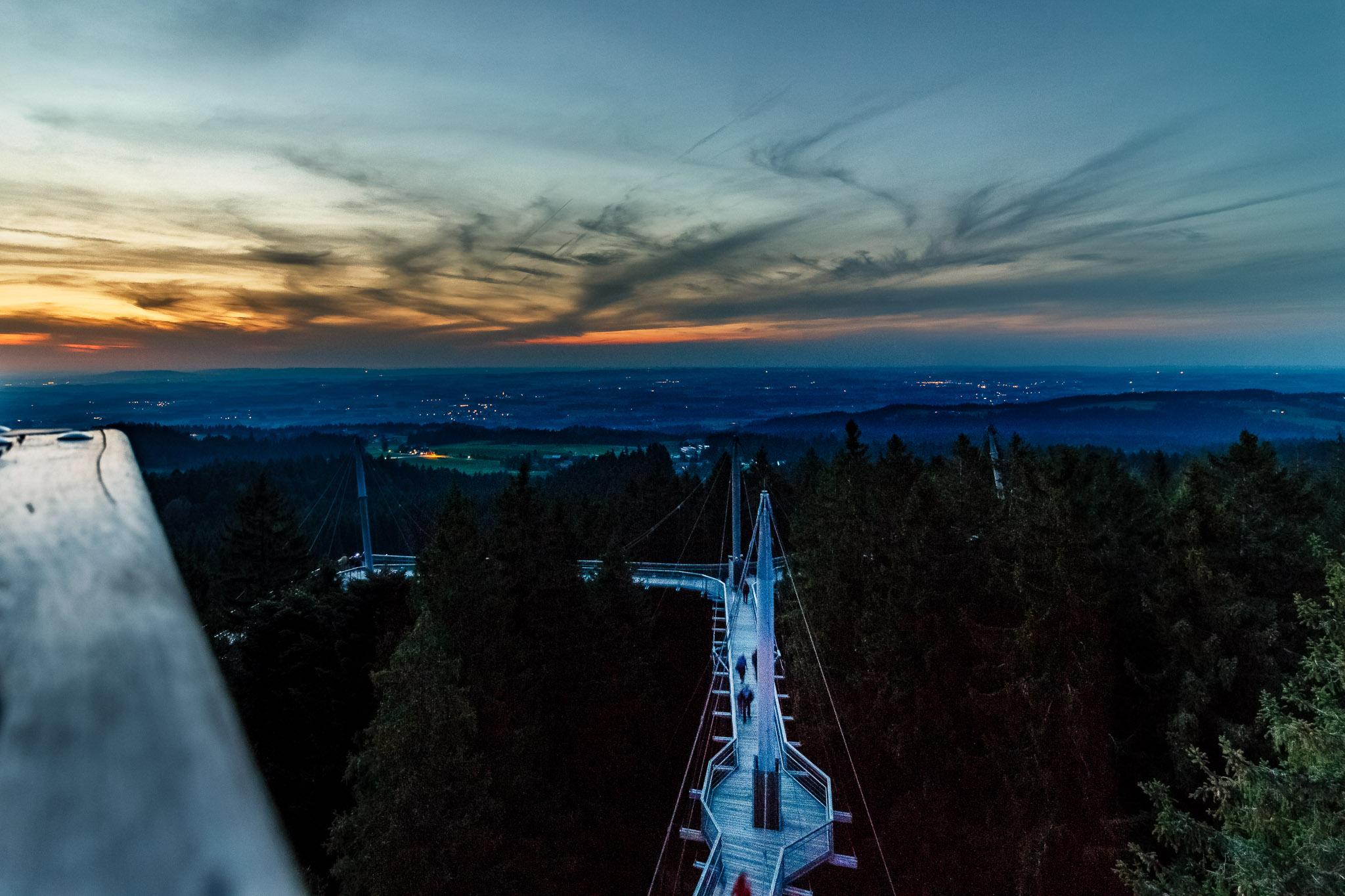 Lichterabend Skywalk Allgäu Scheidegg
