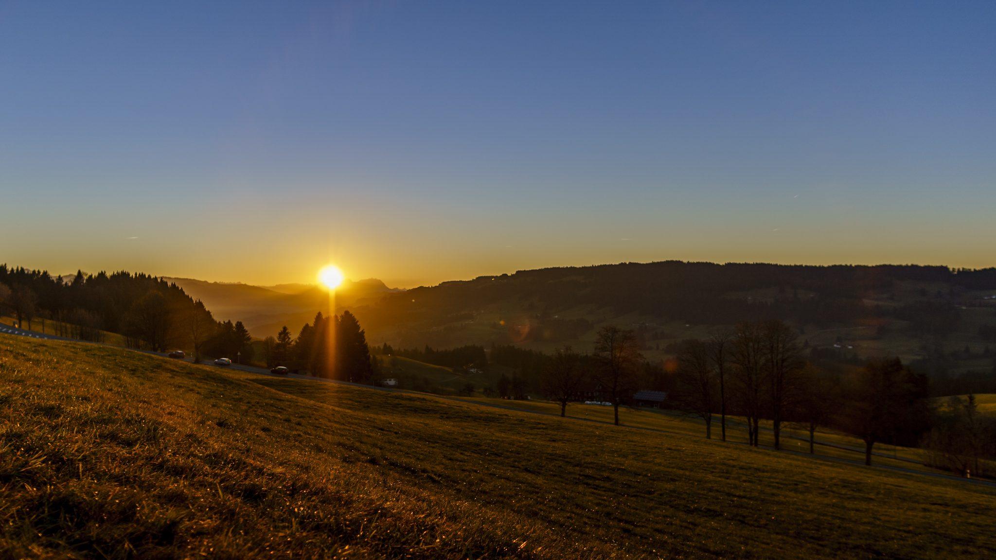 Oberstaufen – Timelapse Sonnenuntergang